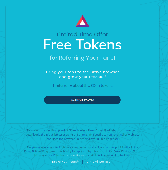 Brave Payments Activate Promo